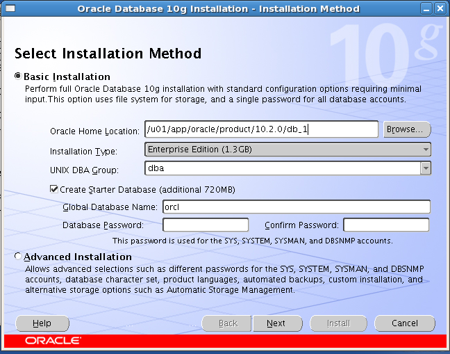 Install Oracle Database 10g (10 2 0 4) on Red Hat Enterprise